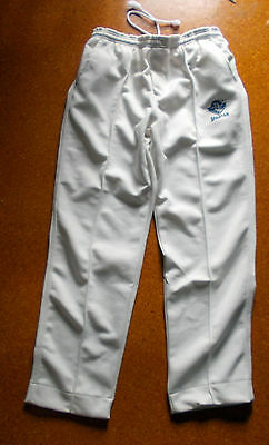 "Mens Cricket Pants CREAMS  with "" SPARTAN""  LOGO sizes S-2XL"
