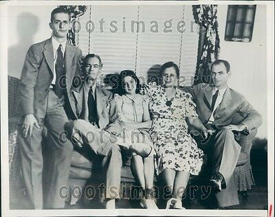 1939 Mississippi Governor Paul B Johnson With His Family Press Photo