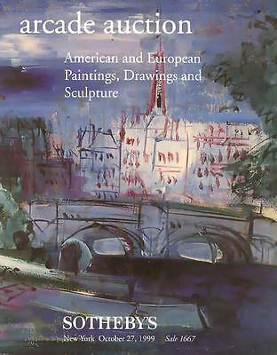 Sotheby's Sale 1667 American & European Paintings Auction Catalog 1999