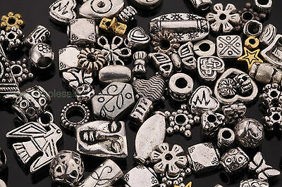 50g About 90pcs New Hot Mixed Tibetan Silver Spacer Beads For Bracelet Jewelry