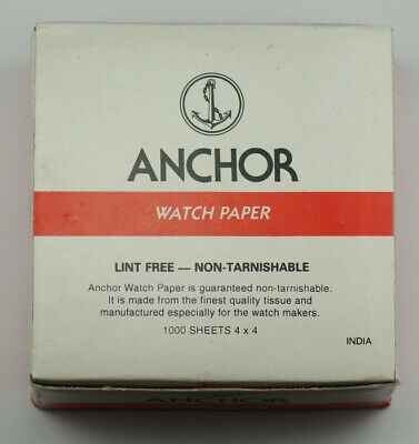 Watchmakers TISSUE PAPER for parts repairs mechanical