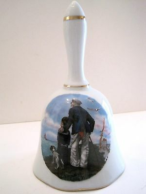 """Norman Rockwell Porcelain Bell """"Looking Out To Sea"""" ~ Royal Eaton"""