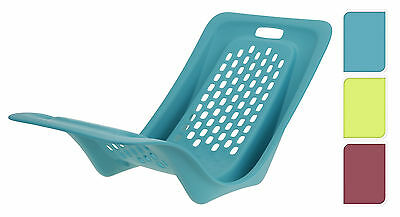 One Piece Low Plastic Beach Chair Portable Lightweight Festival Camping Chair