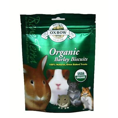 Oxbow BeneTerra Organic Barley Biscuits For Rabbits Chinchillas etc. 2.65 oz