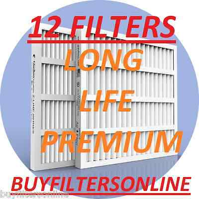 Air Filters 12 Pack Glasfloss Zxp Merv 10 Home Furnace Air Conditioning Pleated