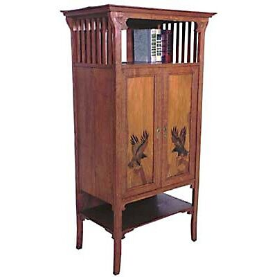 Unusual Oak Arts & Crafts Cabinet c. 1910 #119 • £3,111.99