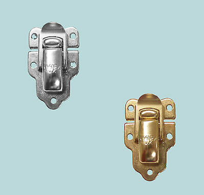 Sprung Case and Box Toggle Clip Catch Electro Brass or Nickel Plated 45mm x 29mm