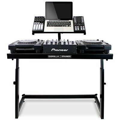 Gorilla DS-1 DJ Deck Stand CDJ Turntable Mixer Laptop DJ Equipment Desk Table