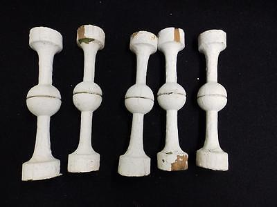 Vintage Set of 5 Small Architectural Porch Gingerbread Antique Spindles 3212-14