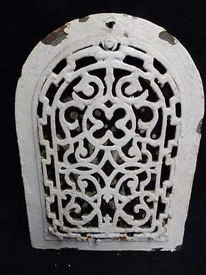 Antique Cast Iron Arch Top Dome Heat Grate Wall Register Vintage  3213-14