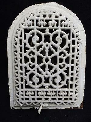 Antique Cast Iron Arch Top Dome Heat Grate Wall Register Vintage 3215-14