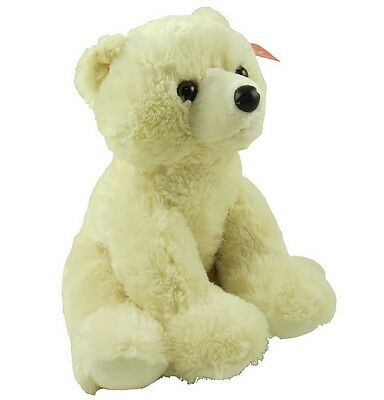 "Aurora World 12"" Plush Ultra Soft Cream POLAR BEAR ~NEW~"