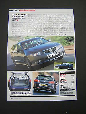 Honda Accord 2.0 Tourer First Drive Road Test from 2003