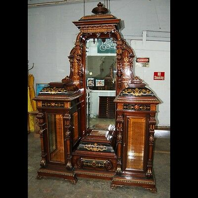 Important Pottier and Stymus Rosewood Renaissance Revival Drop Front Inlaid #749