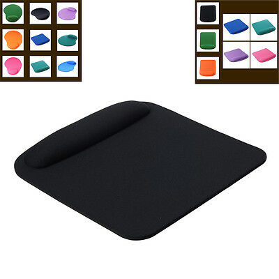 Square Mouse Pad With Wrist Rest  Fabric (Front)-BLACK