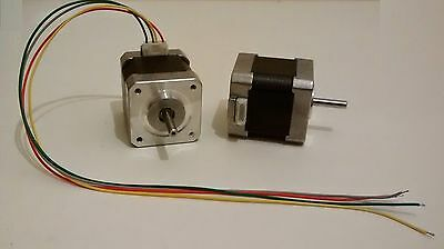 3D Printer NEMA17 Stepper Motors - 1.8deg - 5mm Shaft - Reprap CNC & More