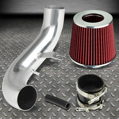 FOR 02-05 CIVIC SI EP3 K20 SHORT RAM INTAKE INDUCTION PIPE+CONE RED AIR FILTER