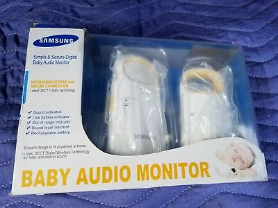 New Open Box Samsung Baby Audio Monitor Simple Secure Parent And Baby Digital