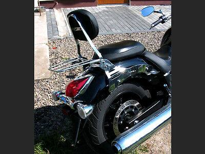 Passenger, Sissy Bar Backrest w/ Rack Yamaha Midnight Star XVS 950 & 950A Vstar