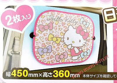 Hello Kitty Car Sun Shade Window Blind x2 Original Japan Sanrio  A78a