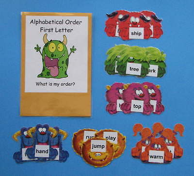Teacher Made Literacy Center Resource Game Alphabetical Order First Letter