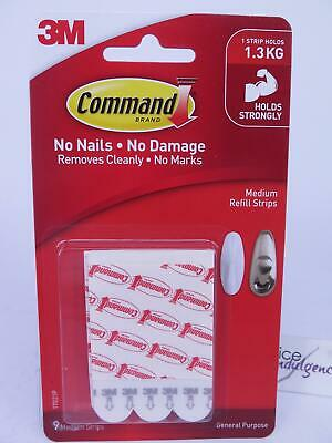 3M Command Medium Refill Strips For Hooks 17021P Hanging Mounting Picture Frames