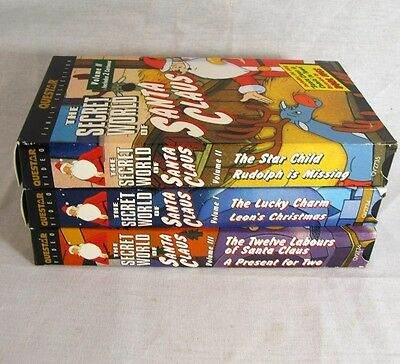 The Secret World of Santa Claus VHS Lot of 3 Animated Videos 1997 Volume 1-3