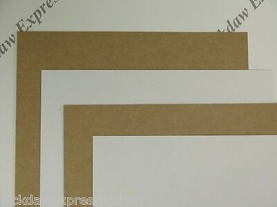 Kraft Card White One Sided 25 x  A4 360gsm for Cardmaking Backing Mounting AM298