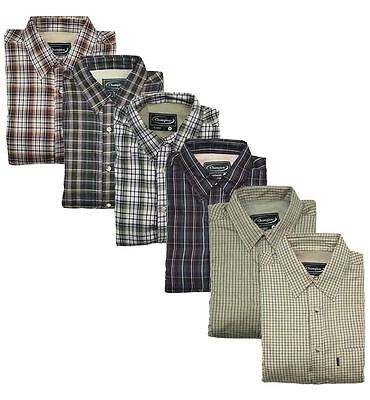 Champion Fleece Lined Country Check Warm Shirts Farming Fishing £19.99 FREE POST