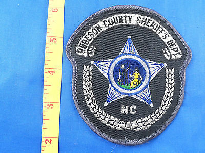 ROBESON COUNTY SHERIFF'S DEPT NORTH CAROLINA  PATCH  Embroidered Cloth - Estate