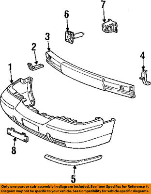 Mercury FORD OEM 2006 Grand Marquis Front Bumper-Cover Molding 6W3Z17C829A