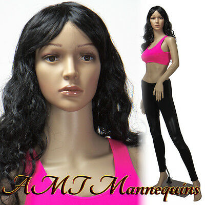 Female mannequin, manequin, full body dress form, display manikin-P4+2Wigs
