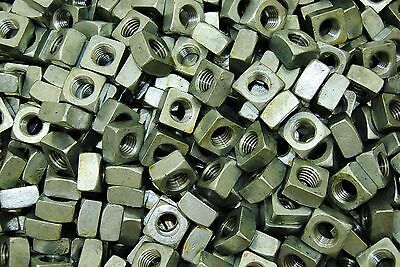 (100) Galvanized 1/2-13 Square Nut - Coarse Thread