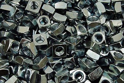 (100) Zinc Plated 1/2-13 Square Nut - Coarse Thread
