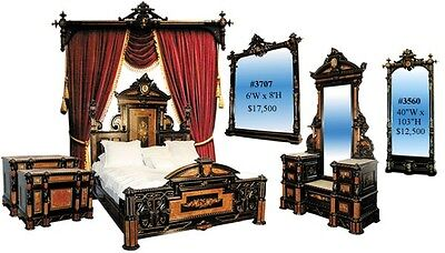 Victorian Bedroom Suite by Herter Brothers, Ebonized  #2704