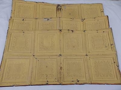 100 Square Feet Salvaged Antique Tin Ceiling Decorative 1890s  3233-14