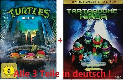 Turtles 1-3 dvd SET, neu/ovp 1,2,3 I-III, Der Film, Teil, deutsch, Ninja, Movies