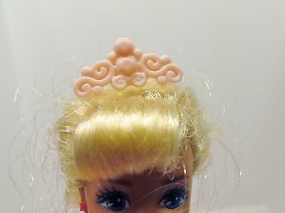Barbie Doll Sized Clothes Pink Tiara Crown Jewelry