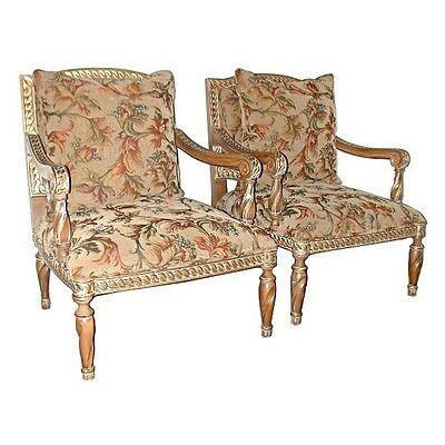 Pair of 20th C. Upholstered Armchairs #5602