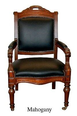 California State Capital Chairs in Oak or Mahogany 1900-1950 #2425