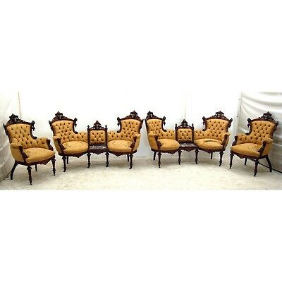 Rosewood Parlor Set by John Jelliff, Antique  #2633