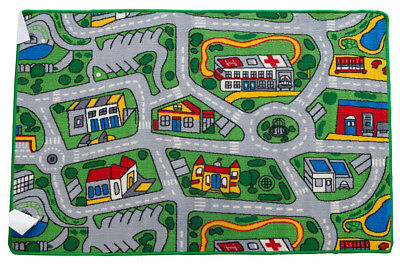 New Children's Floor Rug Kids SUBURBS Car Play Mat streets Nursery 94cm x 133cm