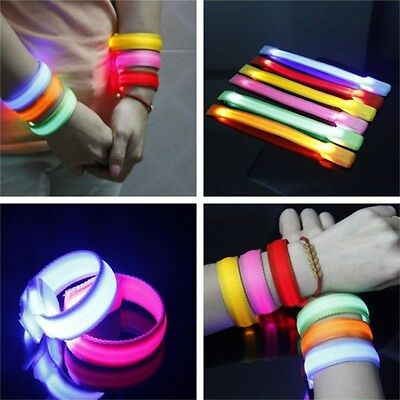 NEW Safety Flash Flexible Led Armband Reflective Wrist Ankle strap Wrap Arm Belt