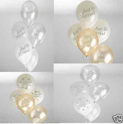 New wedding 8 vintage romance or elegant butterfly just married balloons
