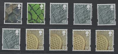 N Ireland. 2007. NI122-131. Set x 10 elliptical Machins. Superb unmounted mint.