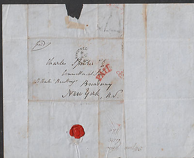 1860 folded letter David Jobson London to Charles Spencer lawyer Broadway NY