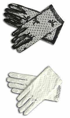 """8"""" LACE Wrist length strech Gloves for Wedding Bridal Prom Costume"""