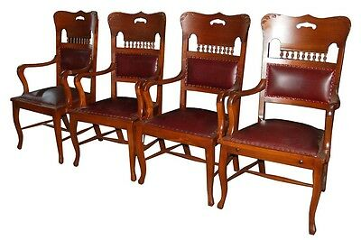 American Antique Arm Chairs, set of 4, 1800-1899 #2127