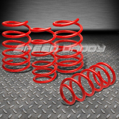 """01-07 MIT EVO 8//VIII CT9A RED 1.9/"""" DROP SUSPENSION LOWERING SPRINGS F275//R255LB"""