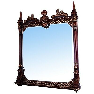 Beautifully Carved Pottier & Stymus Egyptian Revival Wall Mirror #6932